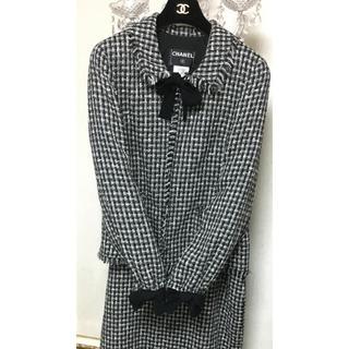 シャネル(CHANEL)のK様専用 ☆ シャネル 美品 リボン ツイード スーツ 48  (スーツ)