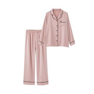 ジーユー(GU)のGU 新作☆Sサイズ☆長袖☆パジャマ☆サテン☆ピンク☆人気(パジャマ)