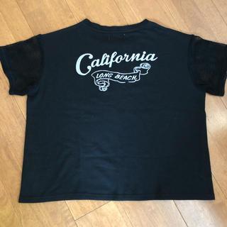 ダブルネーム(DOUBLE NAME)のDOUBLE NAME 半袖 ワイド スウェット 黒(Tシャツ(半袖/袖なし))