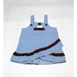 日本製 サンフラワー ワンピース 4号 100 ブルー(ワンピース)
