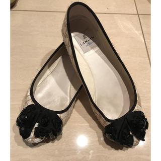 ランバンオンブルー(LANVIN en Bleu)のランバンオンブルー ビジュー付ローファー (ローファー/革靴)