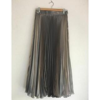 ビューティアンドユースユナイテッドアローズ(BEAUTY&YOUTH UNITED ARROWS)のH ビューティ&ユース 箔プリーツスカート(ロングスカート)