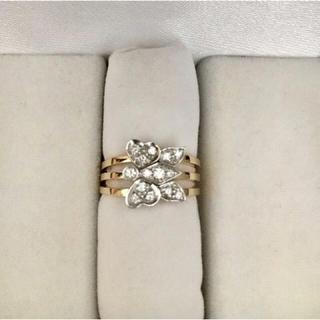 ポメラート(Pomellato)のPomellato ポメラート 蝶 ダイヤモンド リング K18YG 7.0g(リング(指輪))