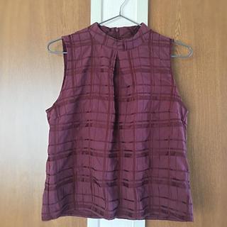 イープローズ(EPROZE)のEproze ノースリーブチェックシャツ(シャツ/ブラウス(半袖/袖なし))