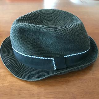 フィールドドリーム(field/dream)のfield/dream ハット 麦わら帽子 黒 ブラック(麦わら帽子/ストローハット)