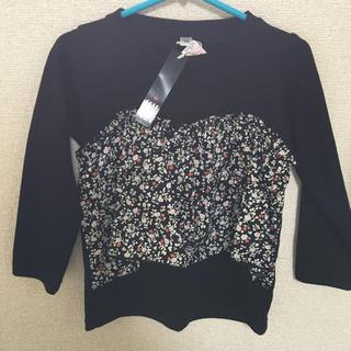 シマムラ(しまむら)の90 花柄 長袖Tシャツ 新品未使用(Tシャツ/カットソー)