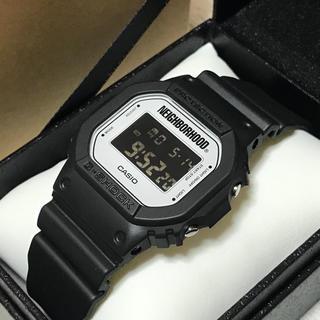 ネイバーフッド(NEIGHBORHOOD)のNEIGHBORHOOD x CASIO G-SHOCK DW-5600 黒白(腕時計(デジタル))