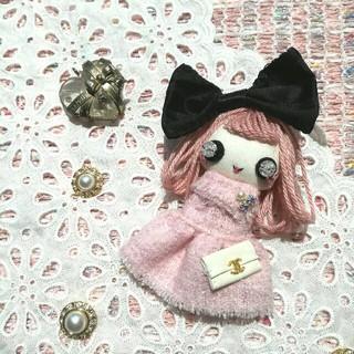 (チェーンつき)アイビードール♥ピンクヘアの女の子♪ドールチャーム(バッグチャーム)
