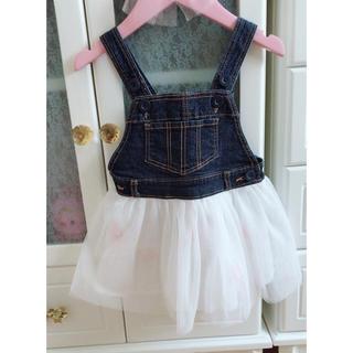 ニシマツヤ(西松屋)のジャンパースカート♡80センチ(ワンピース)