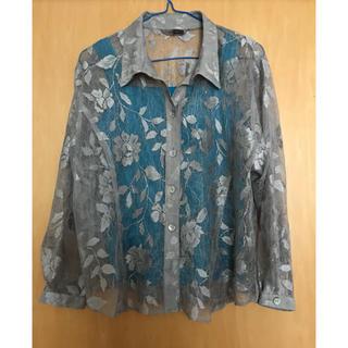 ミツコシ(三越)のレース   ブラウス   上着    ジャケット    シャツブラウス(シャツ/ブラウス(長袖/七分))