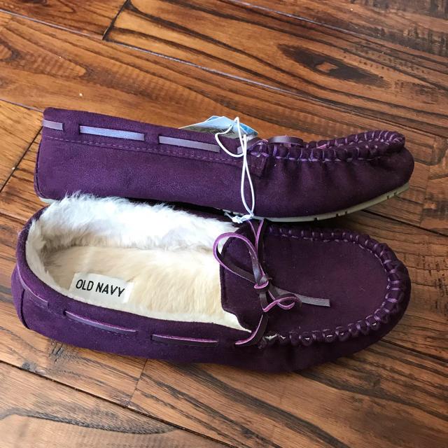 Old Navy(オールドネイビー)のオールド・ネイビー パープルのモカシンシューズ レディースの靴/シューズ(スリッポン/モカシン)の商品写真