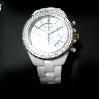 シャネル(CHANEL)のCHANEL J12 クロノグラフ ダイヤベゼル ギャランティ(腕時計(アナログ))