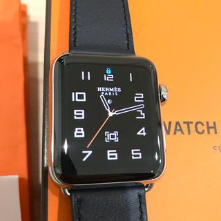 アップルウォッチ(Apple Watch)のApple Watch HERMÈS seris3 42ミリ 美品 (腕時計(デジタル))
