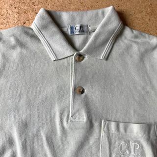 C.P.COMPANY☆鹿の子素材半袖ポロシャツ 130 アイスグリーン