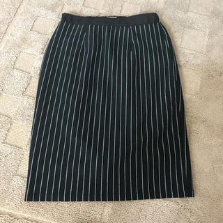 グラスライン(Glass Line)のストライプ タイトスカート(ひざ丈スカート)