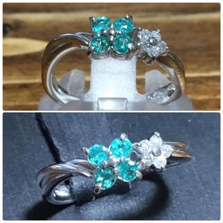 ボンボンショコラ様専用 パライバ&ダイヤモンドリング 指輪9号(リング(指輪))
