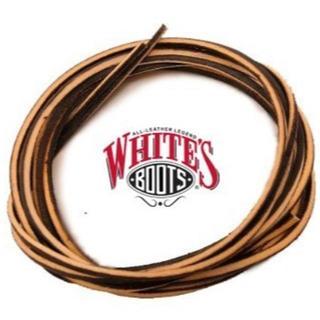 ウエスコ(Wesco)のホワイツ 純正 茶革紐 約180cm 8インチ丈程度迄の靴に redwingにも(ブーツ)