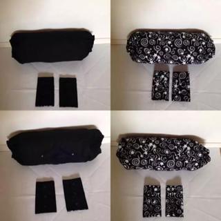 抱っこ紐収納カバーヨダレカバーセット エルゴナイトスカイ同柄同素材リバーシブル黒(外出用品)