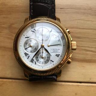 セイコー(SEIKO)のSEIKO クレドール K18 クロノグラフ 手巻き 廃番 希少品(腕時計(アナログ))
