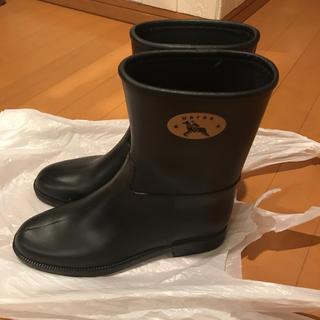 ダフナブーツ(Dafna Boots)のダフナレインショートブーツ長靴ジョッキーインヒール(レインブーツ/長靴)