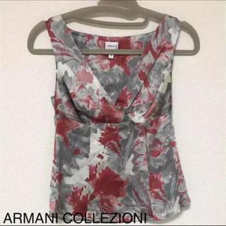 アルマーニ コレツィオーニ(ARMANI COLLEZIONI)の正規品 アルマーニ コレツォーニ シルク100% ノースリーブ トップス(シャツ/ブラウス(半袖/袖なし))