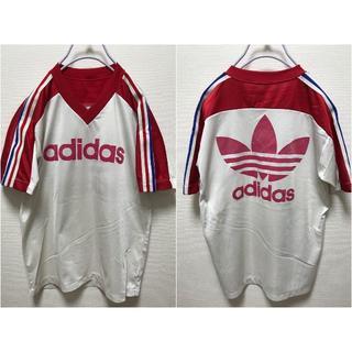 アディダス(adidas)の80' アディダス サッカーシャツ デサント製 トレフォイル(Tシャツ/カットソー(半袖/袖なし))