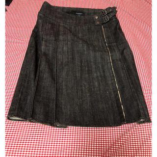 バーバリー(BURBERRY)の売約済バーバリーデニムプリーツスカート(ひざ丈スカート)