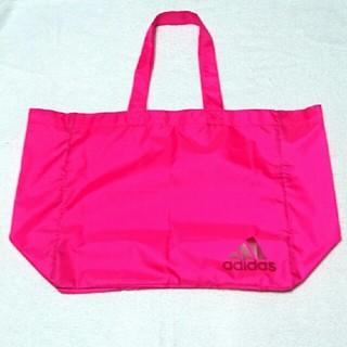 アディダス(adidas)の☆美品☆adidasナイロントートバッグ エコバッグ マイバッグビビッドピンク (エコバッグ)