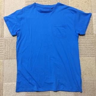 ネクスト(NEXT)の新品 next ネクスト ロールアップスリーブ Tシャツ ブルー Lサイズ激安(Tシャツ/カットソー(半袖/袖なし))