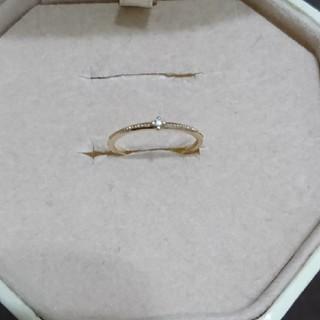 エテ(ete)のete ダイヤモンド0.01ピンキーリング K10(リング(指輪))