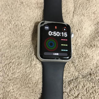 アップルウォッチ(Apple Watch)のApple Watch series1 silver (スマートフォン本体)