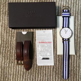 ダニエルウェリントン(Daniel Wellington)の正規品 ダニエルウェリントン 36mm ローズゴールド + ナイロンベルト(腕時計)