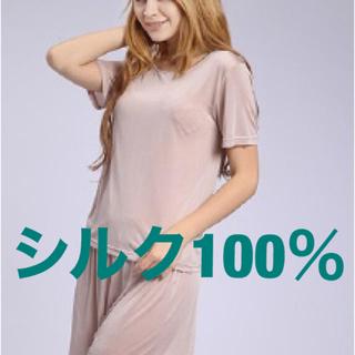 シルク100%半袖インナーシャツ 絹100%シャツ(アンダーシャツ/防寒インナー)
