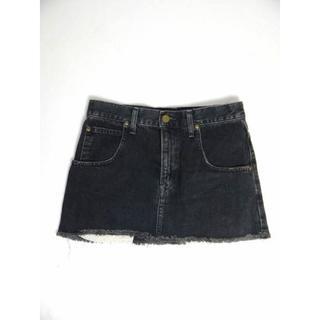 シェル(Cher)の美品 Lee×Cher リー×シェル 黒 デニム スカート S y279(ミニスカート)