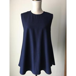 マリリンムーン(MARILYN MOON)のマリリンムーンノースリーブ肩レーストップス(シャツ/ブラウス(半袖/袖なし))