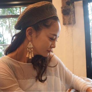 ジョンリンクス(jonnlynx)のfumika uchida 17SS HAND KNIT BERET(ハンチング/ベレー帽)