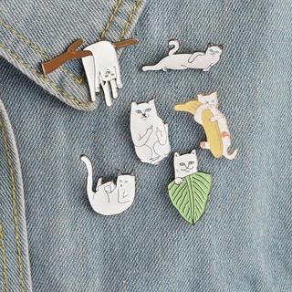 猫 ねこピンバッジ6個セット♪ 洋服にかわいい猫ちゃんピンを♪ 新品未使用品(猫)