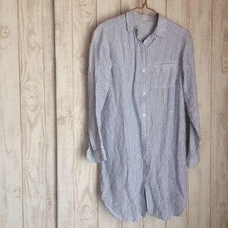ムジルシリョウヒン(MUJI (無印良品))の美品 無印良品 リネン ロングシャツ(チュニック)