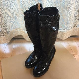 コーチ(COACH)の値下げ コーチ COACH シグネイチャー ブーツ 24.5cm パテントレザー(ブーツ)