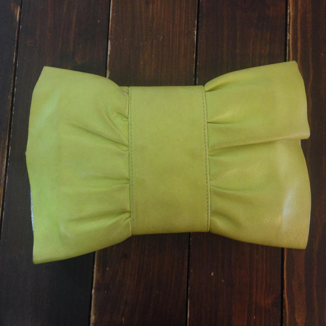 01b55adc43d0 Furla - 【フルラ FURLA】クラッチバッグ パーティーバッグ リボン 黄緑 ...