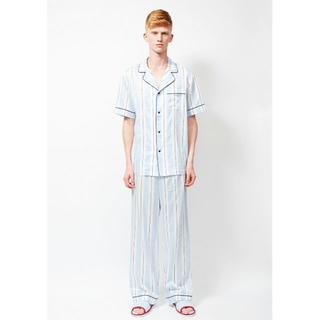 ロンハーマン(Ron Herman)の新品 日本製 Priv Spoons Club 高級パジャマ 上下セット 青 M(その他)