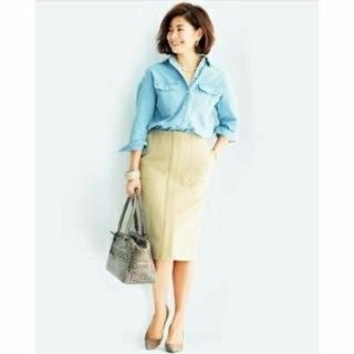 デミルクスビームス(Demi-Luxe BEAMS)のデミルクスビームス タイトスカート  (ひざ丈スカート)