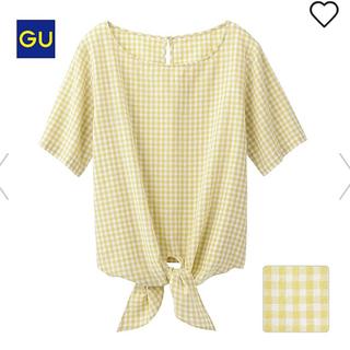 ジーユー(GU)のGU リネンブレンド ブラウス ギンガムチェック(シャツ/ブラウス(半袖/袖なし))