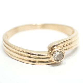 E88 中古 セイコージュエリー K18 18金 リング 指輪 ダイヤ(リング(指輪))