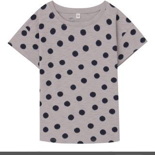 ムジルシリョウヒン(MUJI (無印良品))の無印 ドット柄 Tシャツ キッズ 130(Tシャツ/カットソー)