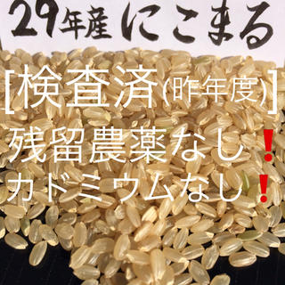 29年産玄米5kgにこまる(米/穀物)