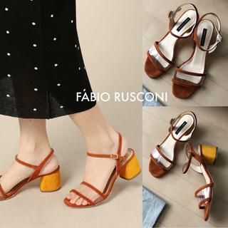 ファビオルスコーニ(FABIO RUSCONI)の今季⭐️美品⭐️FABIO RUSCONI サンダル /ミューニック カットソー(サンダル)