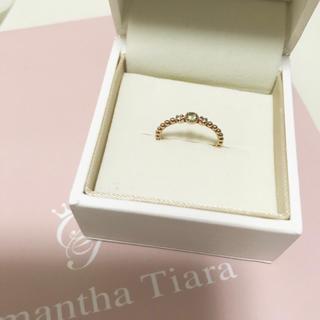 サマンサティアラ(Samantha Tiara)のサマンサティアラ  ピンキー リング 誕生石 ペリドット(リング(指輪))