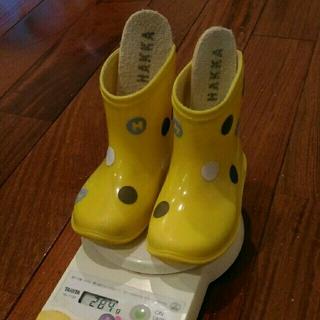 ハッカキッズ(hakka kids)の送料込み黄色hakka長靴14cm(長靴/レインシューズ)