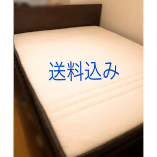 イケア(IKEA)の■mii様専用■大幅値下げ◆クイーンサイズ ベット(フレーム+マットレス)(クイーンベッド)